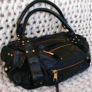 FRENCH CONNECTION large black leather bag